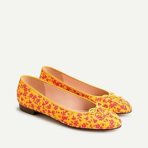 Kiki ballet Flats in Neon Tossed Bouquet NWT